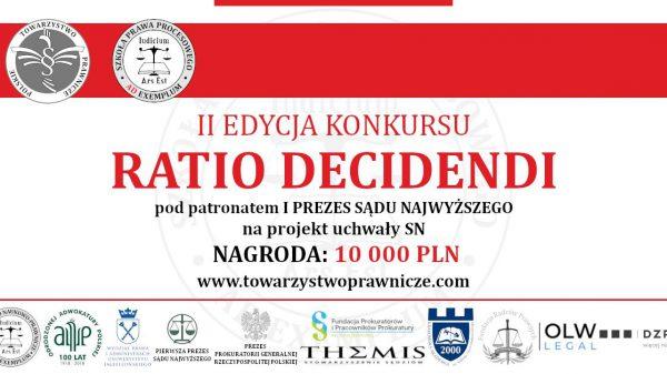 Konkurs orzeczniczy Ratio Decidendi